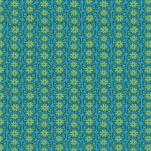 Anna Maria Horner True Colors Fabric - Crescent Bloom - Turquoise