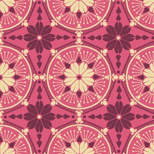 Anna Maria Horner True Colors Fabric - Medallion - Peony