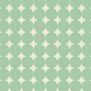 Heather Bailey True Colors Fabric - Mod Dot - Aqua