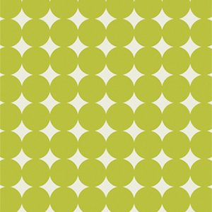 Heather Bailey True Colors Fabric - Mod Dot - Olive