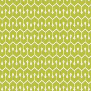 Heather Bailey True Colors Fabric - New Wave - Olive