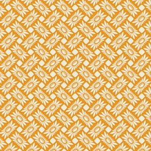Heather Bailey True Colors Fabric - Picnic Daisy - Tangerine