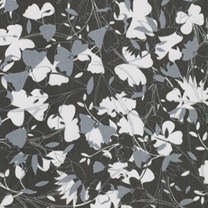 Jenean Morrison True Colors Fabric - Flowers - Gray