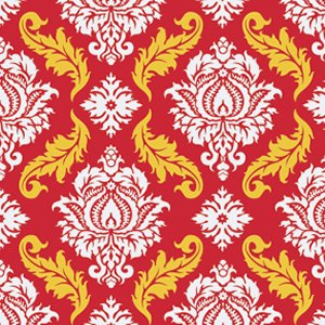 Joel Dewberry True Colors Fabric - Damask - Red