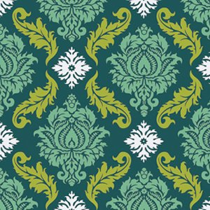 Joel Dewberry True Colors Fabric - Damask - Turquoise