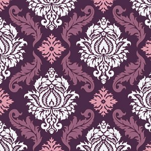 Joel Dewberry True Colors Fabric - Damask - Violet