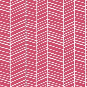 Joel Dewberry True Colors Fabric - Herringbone - Pink