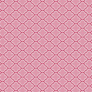Joel Dewberry True Colors Fabric - Lodge Lattice - Pink