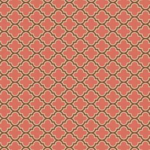 Joel Dewberry True Colors Fabric - Lodge Lattice - Salmon
