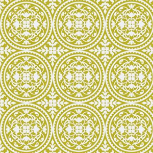 Joel Dewberry True Colors Fabric - Scrollwork - Green