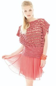 Rowan Summerspun Tutti Frutti Crocheted Top Kit - Women's Pullovers