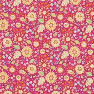 Dena Designs Little Azalea Fabric - Petunia - Pink