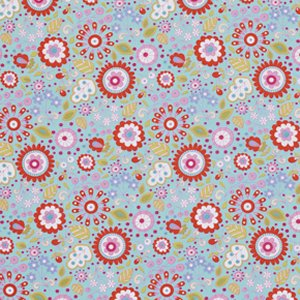 Dena Designs Little Azalea Fabric - Petunia - Red