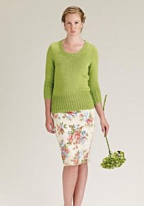 Rowan Cotton Glace Aspen Pullover Kit - Women's Pullovers