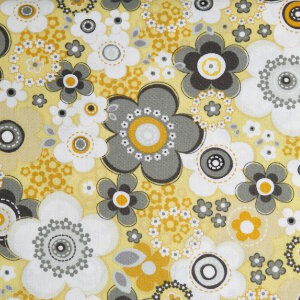 AdornIt Crazy for Daisies Fabric - Daisy Array - Sunshine