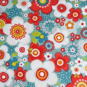 AdornIt Crazy for Daisies Fabric - Daisy Array - Juicy Fruit