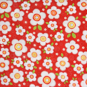AdornIt Crazy for Daisies Fabric - Daisy Darling - Cherry