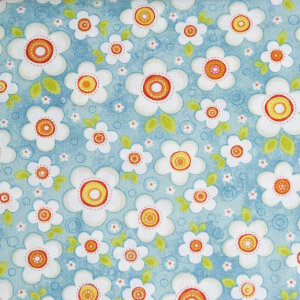AdornIt Crazy for Daisies Fabric - Daisy Darling - Teal