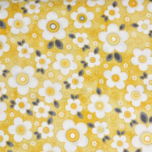 AdornIt Crazy for Daisies Fabric - Daisy Darling - Yellow