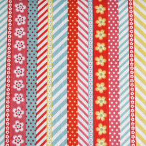 AdornIt Crazy for Daisies Fabric - Daisy Ticker Tape - Juicy Fruit