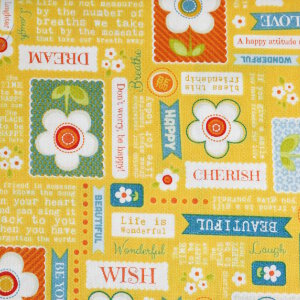 AdornIt Crazy for Daisies Fabric - Daisy Wordplay - Juicy Fruit