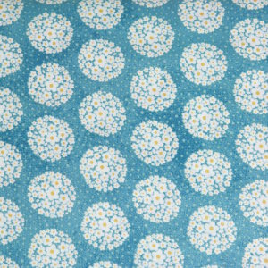 AdornIt Crazy for Daisies Fabric - Pom-pom Dot - Teal