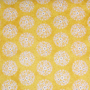 AdornIt Crazy for Daisies Fabric - Pom-pom Dot - Yellow