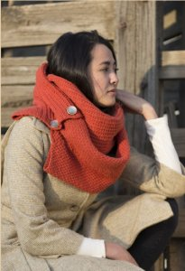 Imperial Yarn Patterns - Convertible Button Scarf Pattern