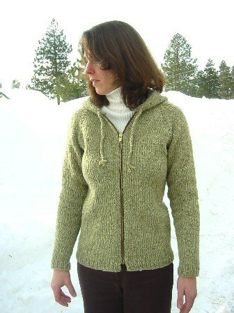 Knitting Pure and Simple Women's Cardigan Patterns - 0252 - Bulky Neckdown Cardigan for Women Pattern