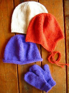 Knitting Pure and Simple Hat and Mitten Patterns - 253 Basic Hat and Mitten Set for Children Pattern