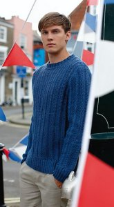 Rowan Softknit Cotton Barry Men's Pullover Kit - Mens Sweaters