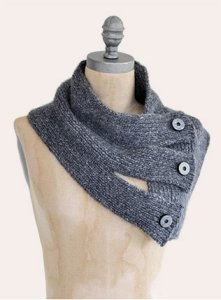 Blue Sky Fibers Traveler's Series Patterns - Tri Button Cowl Pattern