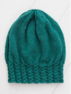 Blue Sky Fibers Traveler's Series Patterns - Cabled Slouch Hat Pattern