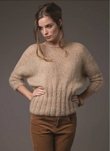 Rowan Kidsilk Haze Trio Curio Dolman Sleeved Pullover Kit - Women's Pullovers