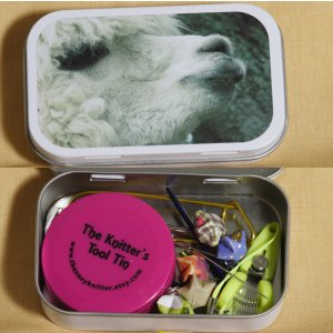 The Sexy Knitter Knitter's Tool Tins - Alpaca Profile