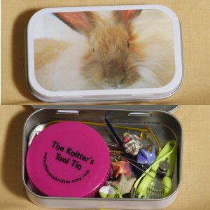 The Sexy Knitter Knitter's Tool Tins - Angora Rabbit