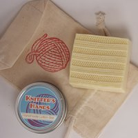 Alsatian Soaps & Bath Products Knitter's Hands Holiday Gift Bag - Holiday Apple