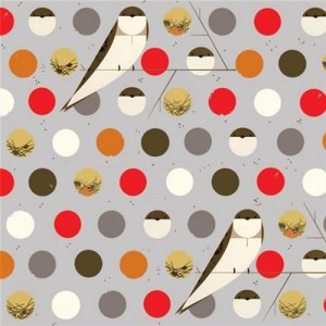 Birch Fabrics Charley Harper Fabric - Bank Swallow - Fall