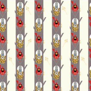 Birch Fabrics Charley Harper Fabric - October Edibles
