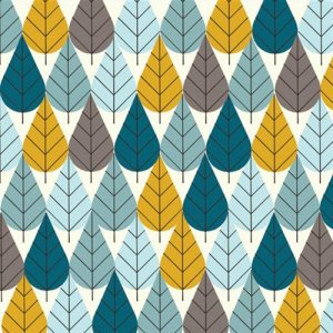 Birch Fabrics Charley Harper Fabric - Octoberama Blue