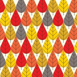 Birch Fabrics Charley Harper Fabric - Octoberama Fall