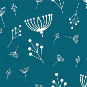 Birch Fabrics Charley Harper Fabric - Twigs - Teal