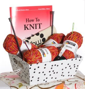Jimmy Beans Wool Learn How to Knit Baskets - Beginner Learn to Knit Basket