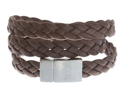 Swan + Saxon Thick Leather Wrap Bracelet