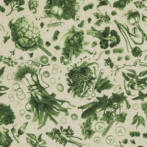 Marjolein Bastin Marjolein's Garden Fabric - Fresh Vegetables - Leaf