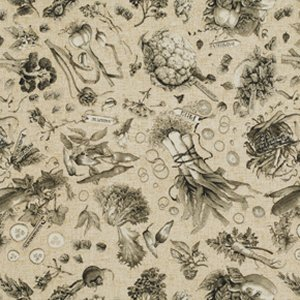 Marjolein Bastin Marjolein's Garden Fabric - Fresh Vegetables - Taupe