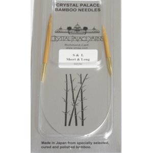 "Crystal Palace Short & Long Bamboo Circular Needles - US 5 (3.75mm) - 12"" Needles"