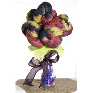 Jimmy Beans Wool Yarn Bouquets - Malabrigo Exclusive Holiday Color- Llamadas Bouquet