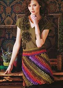 Noro Silk Garden Lite Crochet Bias Miniskirt Kit - Dresses and Skirts