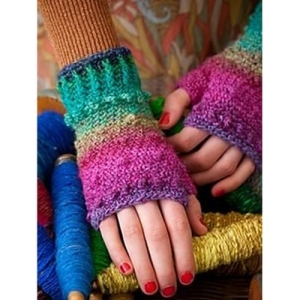 Noro Silk Garden Lite Crochet Bobbled Mitts Kit - Hats and Gloves